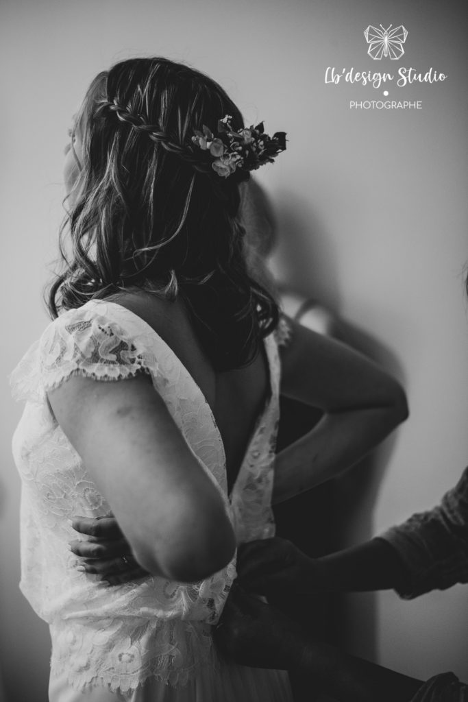 Preparation future mariée